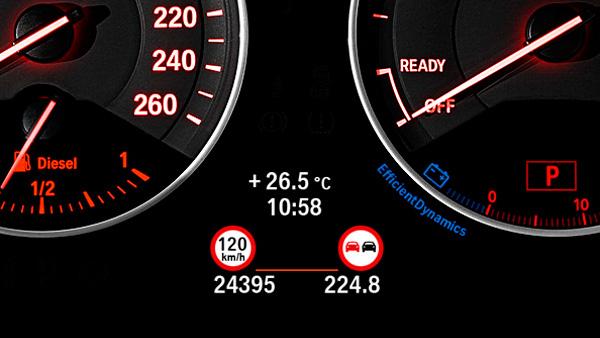 Speed Limit Info con indicación de prohibición de adelantar